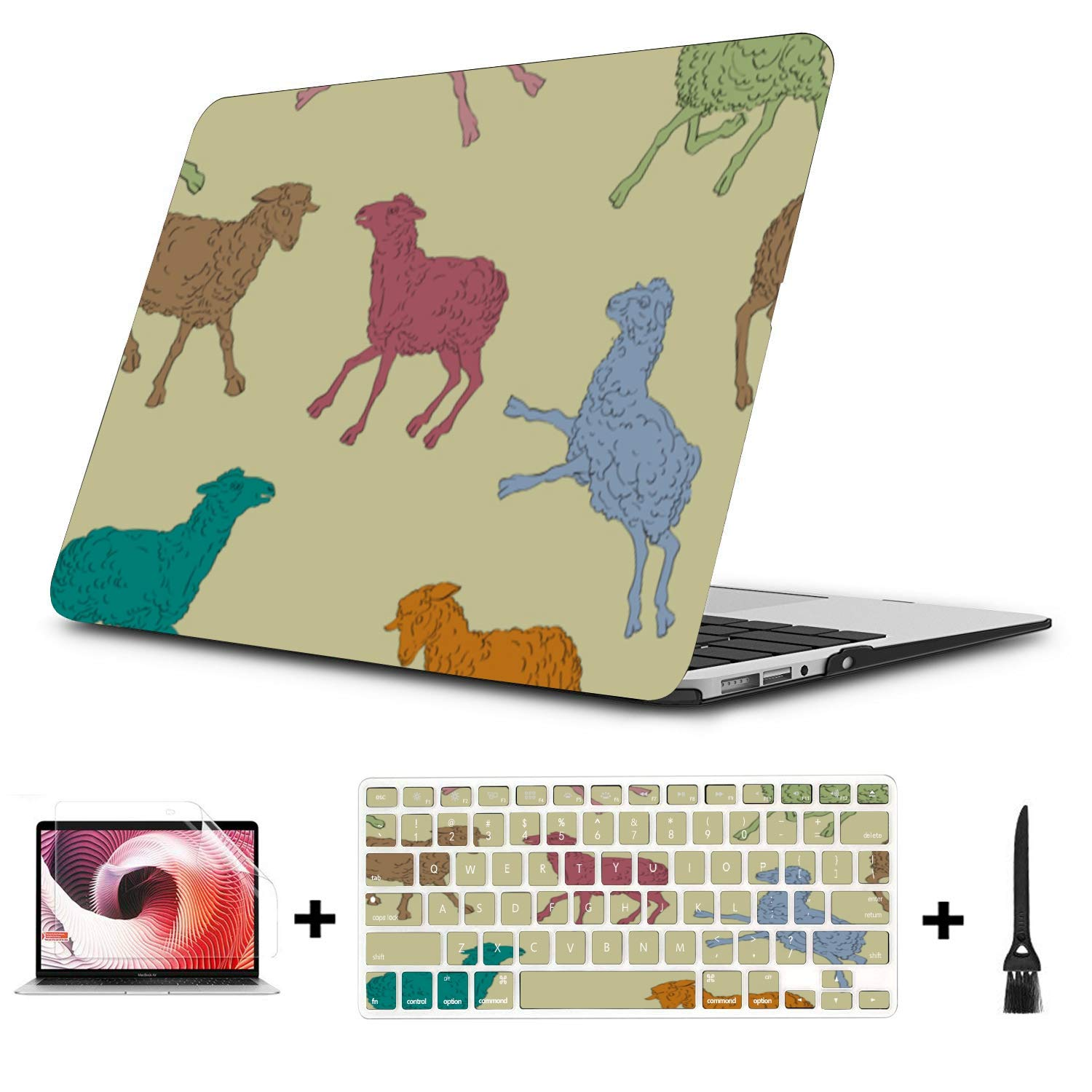 New MacBook Air Case Sheep Retro Wild Animal Naturel Plastic Hard Shell Compatible Mac Air 11 Pro 13 15 12inch MacBook Case Protection for MacBook 2016-2019 Version