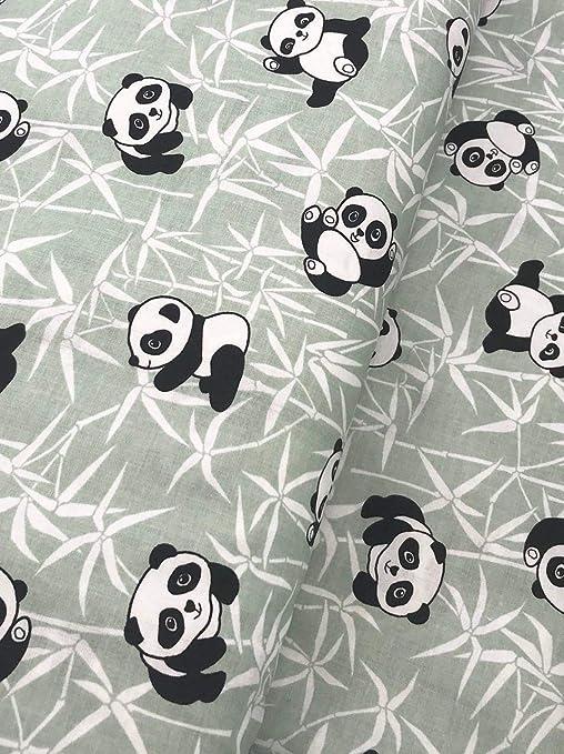 Slantastoffe - Tela de algodón Infantil, diseño de Oso Panda ...