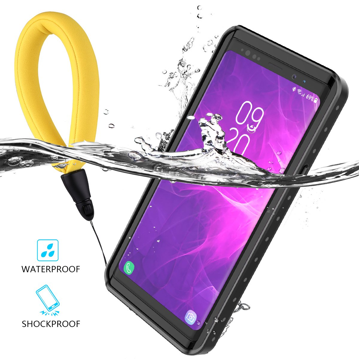Amazon.com: Samsung Galaxy Note 9 Waterproof Case, Outdoor ...
