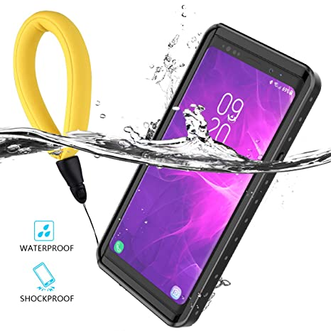 Samsung Galaxy Note 9 Waterproof Case, FugouSell [IP68 Certified] Shockproof Snowproof Dustproof Full Body Protection Underwater Cover with Screen ...