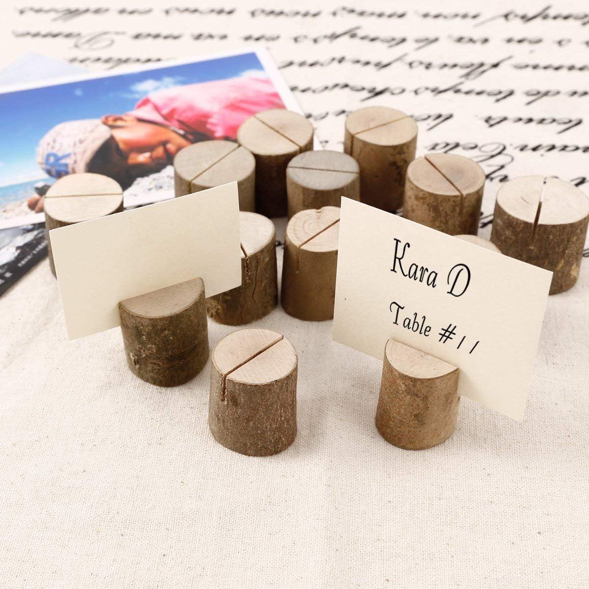 Wood Base Wedding Table Name