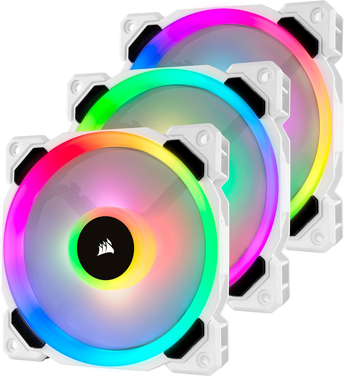 Corsair LL120 RGB - Paquete de 3 Ventiladores (Lighting Node Pro, LED 120 mm) Blanco (CO-9050092-WW)