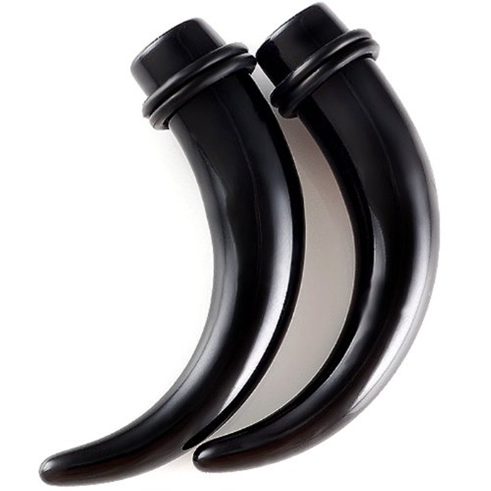 gauges 00 tapers cute ear cool 10mm Black Acrylic s Stretching Talon Claw Plugs ADEE Piercing 2Pcs