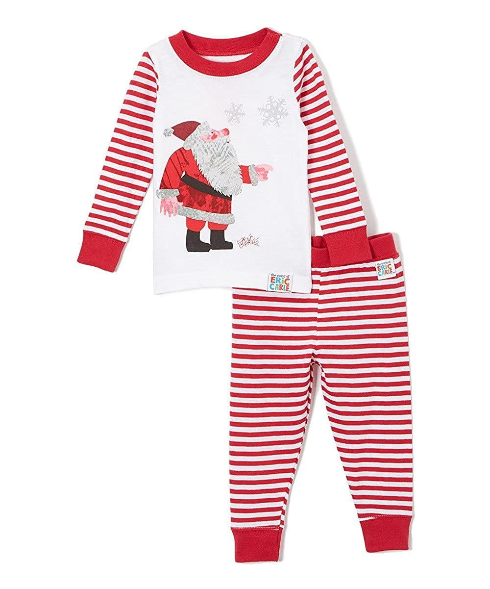 Eric Carle Baby Infant Santa Christmas Holiday Book Cotton Pajama Set 019616I