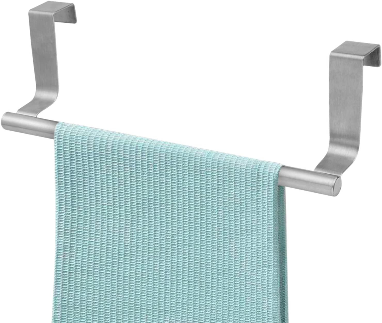 Over The Door 9 Dish Towel Bar Rack Hanger Holder Stainless Steel With 22 Lbs Maximum Load Effortless Installation On Any Bathroom And Kitchen