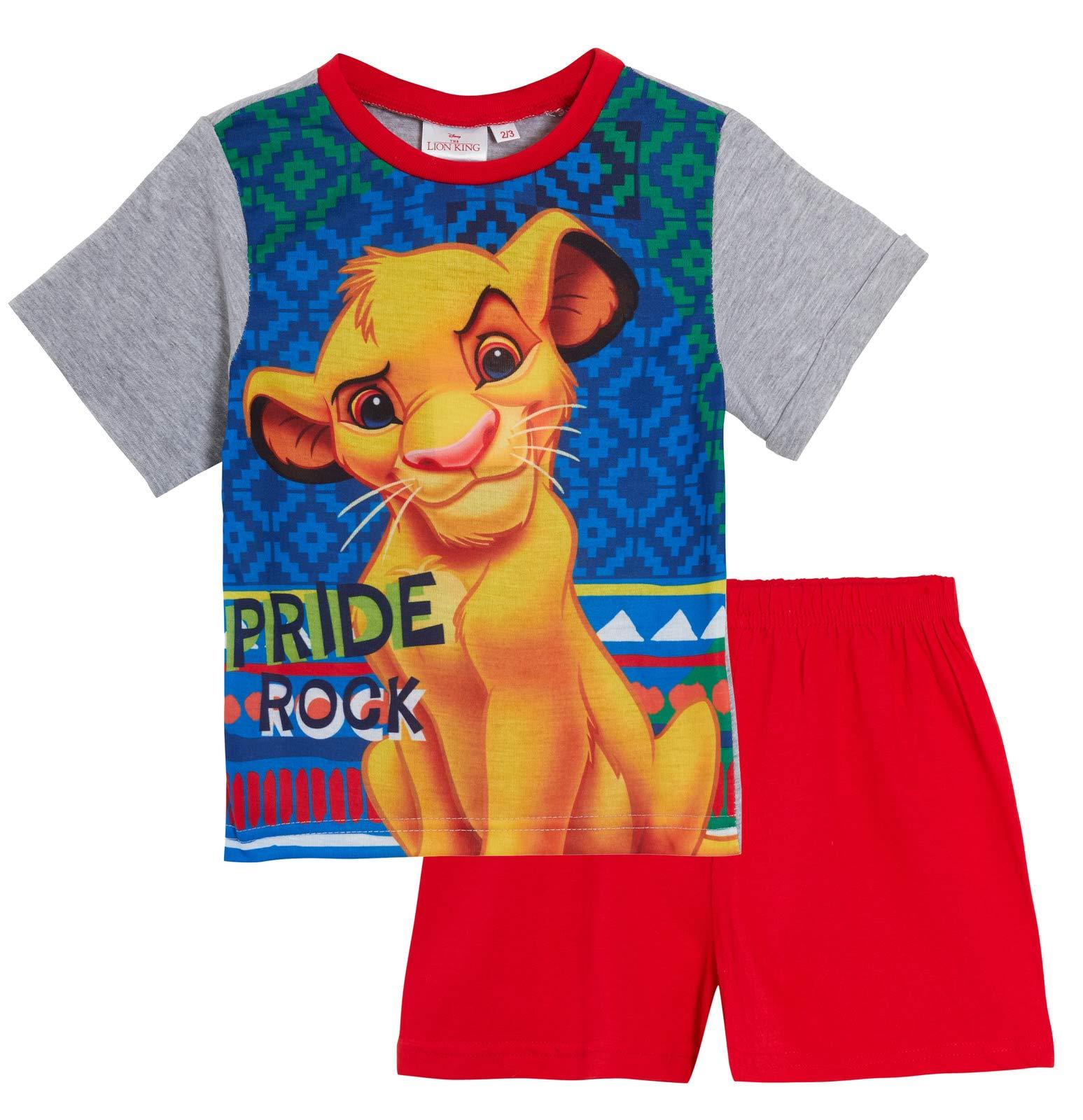 NEW Boys  Cotton Official Boys Lion king Shortie Pyjamas  set 1-5 Years