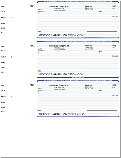 photograph relating to Printable Checks for Quickbooks named Laptop or computer Assessments - 300 Released Laptop or computer Laser Assessments - Wallet Exams Appropriate for Quicken or QuickBooks