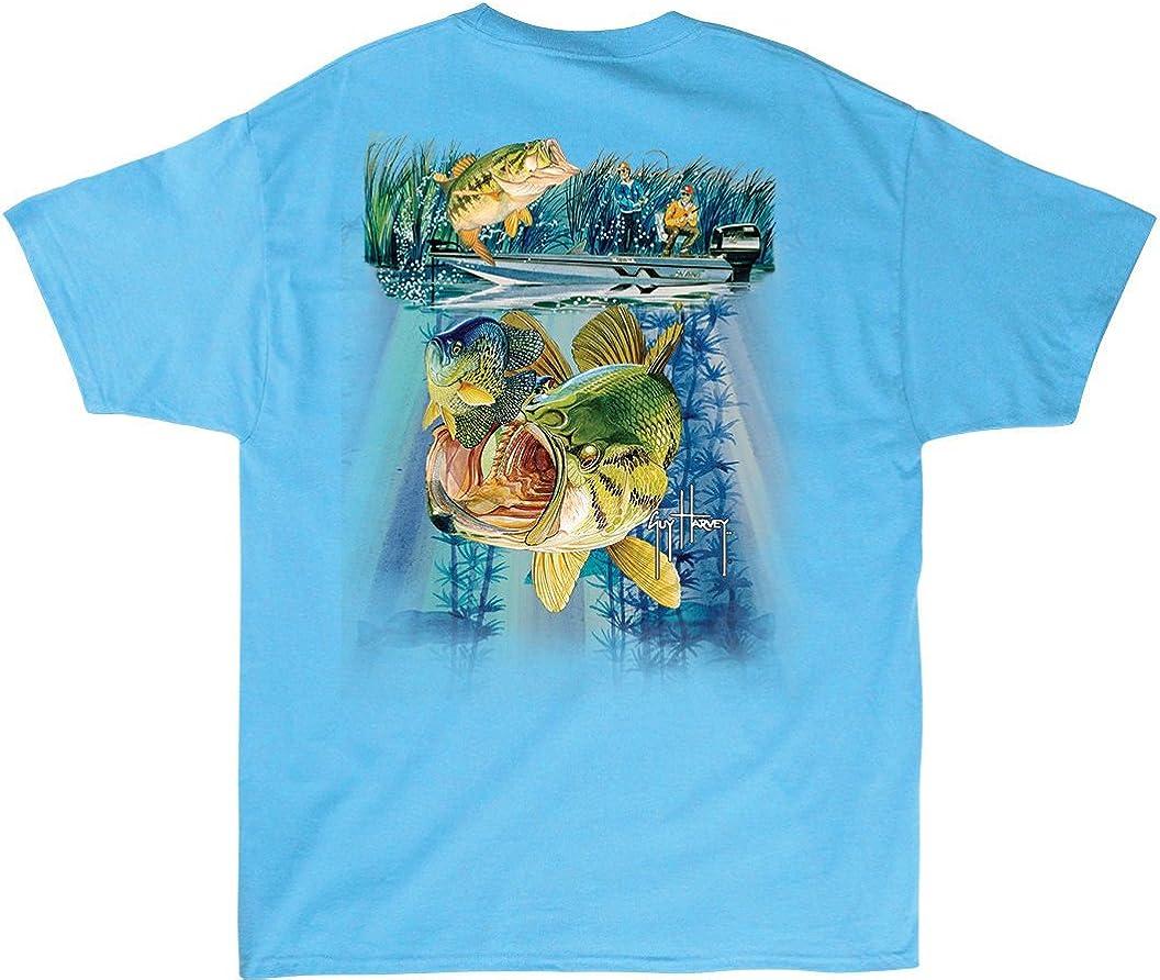 Guy Harvey Nitro Bass Aqua Blue Pocket T-Shirt