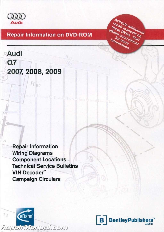 A4L6 Audi Q7 2007-2009 Repair Manual on DVD ROM: Manufacturer: Amazon.com:  Books