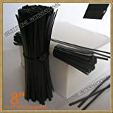 "Weststone - Heavy Duty 8"" pre-cut plastic twist ties - wire #23 (black)"