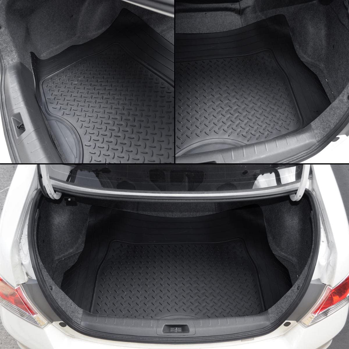 Gray PVC 31.5 x 50 BDK Universal Fit Premium Cargo Car Trunk Mat//Liner