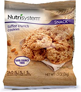 Nutrisystem® Toffee Crunch Cookies, 36ct, Guilt-Free Snacks to Support Healthy Weight Loss