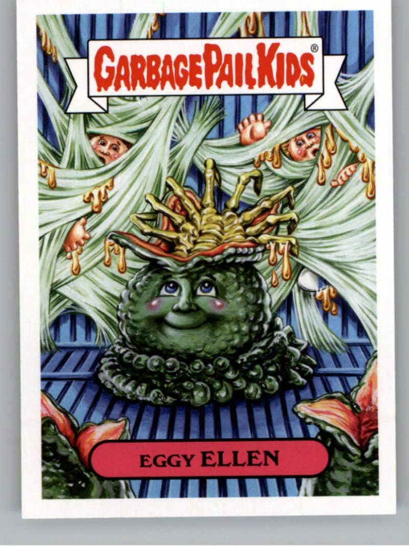 2019 Topps Garbage Pail Kids Revenge of Oh, The Horror-ible 1980's Horror Stickers NonSport #1A EGGY ELLEN Series Two Collectible Trading Card