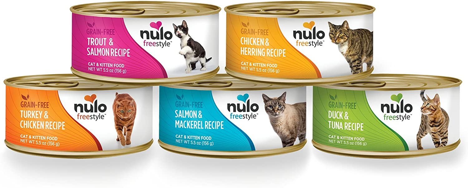 Nulo Adult & Kitten Grain Free Canned Wet Cat Food, 5.5 oz, Case of 5 or 24