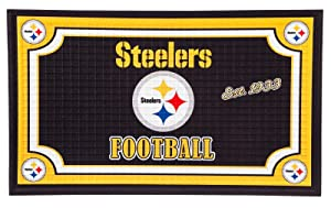 Team Sports America 41EM3824 Pittsburgh Steelers Embossed Door Mat