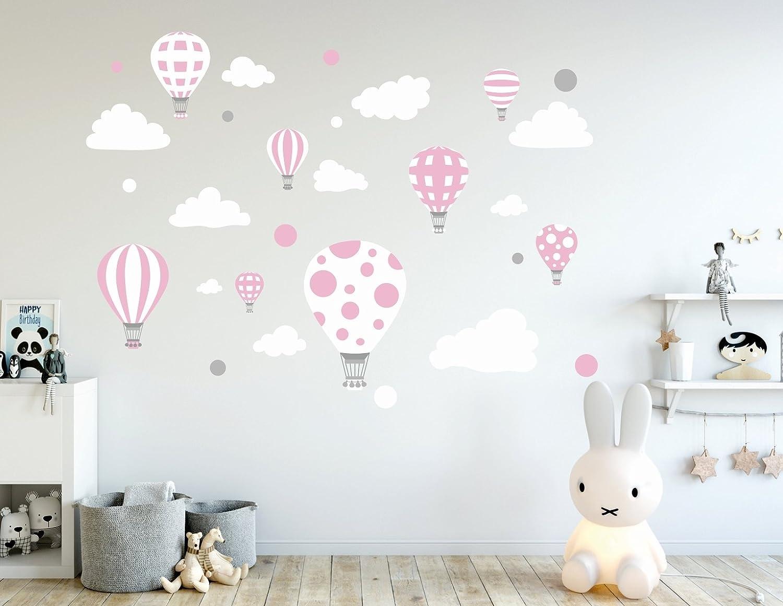 madras24 Adesivi sul Muro murali Decorazione Palloncino Palloncini Nuvole Nuvola Colorato da Parete Stickers Murali Soggiorno Asilo Camera da Letto per Bambini vivaio Stanza dei Bambini Salone