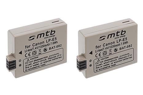 2X Batería LP-E5 para Canon EOS Kiss X2, Kiss X3 / Rebel T1i, XS, XSi. (Ver descripción)
