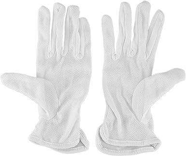 SODIAL(R) Par Guantes de conduccion trabajo de algodon blanco ...