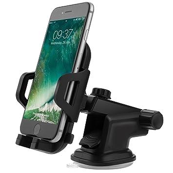 Soporte Para teléfono Móvil Del Coche, FayTun titular del teléfono del coche del coche universal con el lechón de gel, brazo telescópico ajustable gira 360 ...