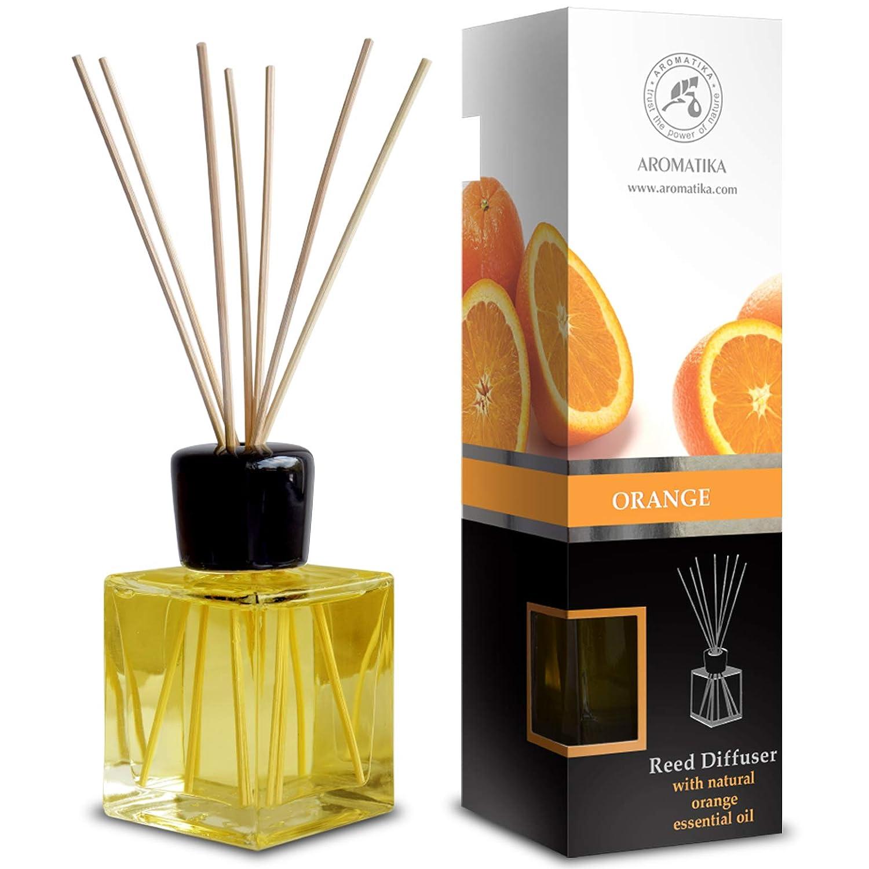 Orange Diffuser w/Orange Oil 6.8oz 200ml - Fresh Room - Long Lasting Fragrance - Scented Reed Diffuser Orange - Diffuser Gift Set - Best for Aromatherapy - Home - Orange Essential Oil Diffuser