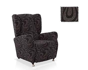 JM Funda para sillones con alas Selene, Negro, 1 Seater ...
