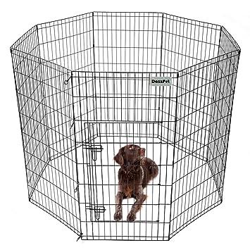 DazzPet Dog Playpen Puppy Pen With Door | Outdoor Outside Indoor Exercise  Play Yard | Puppies