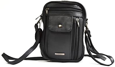 Ladies Soft Genuine Lightweight Leather Cross Body Shoulder Bag by Lorenz