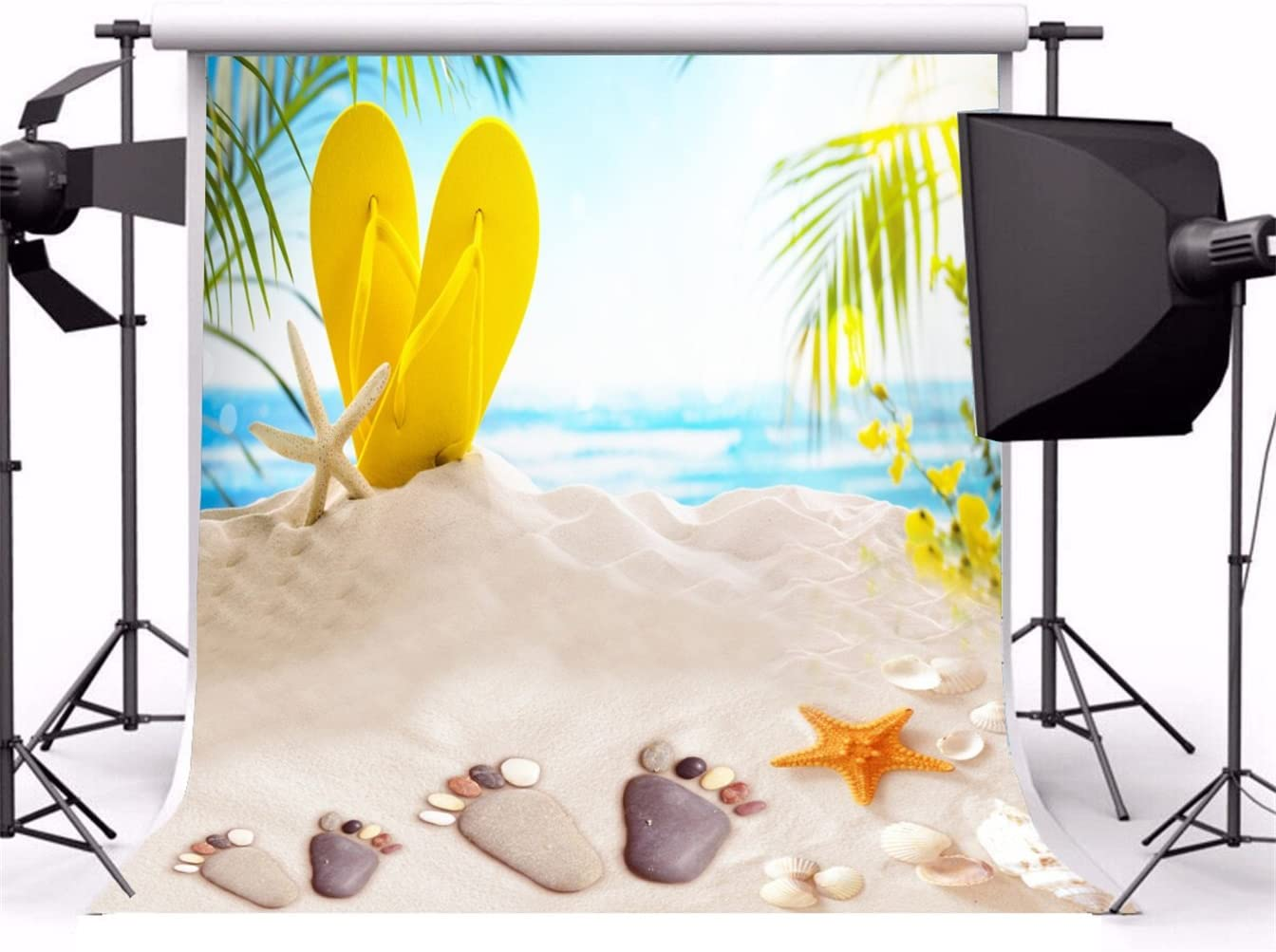 10x15 FT Photo Backdrops,Starfish Hard Coral with Group of Damselfish Water Surface Caribbean Sea Colorful Background for Kid Baby Boy Girl Artistic Portrait Photo Shoot Studio Props Video Drape