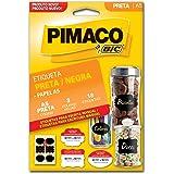 Etiqueta Adesiva para Codificação, BIC, Pimaco, 935255, Preta, 18 Etiquetas