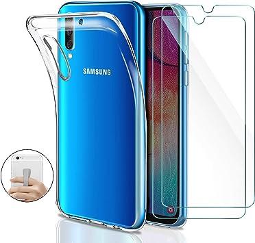 Younme Funda para Samsung Galaxy A50, Carcasa Transparente ...