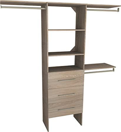 Wonderful ClosetMaid 1936040 SuiteSymphony Modern 25 Inch Closet Organizer With  Shelves And 3 Drawers,