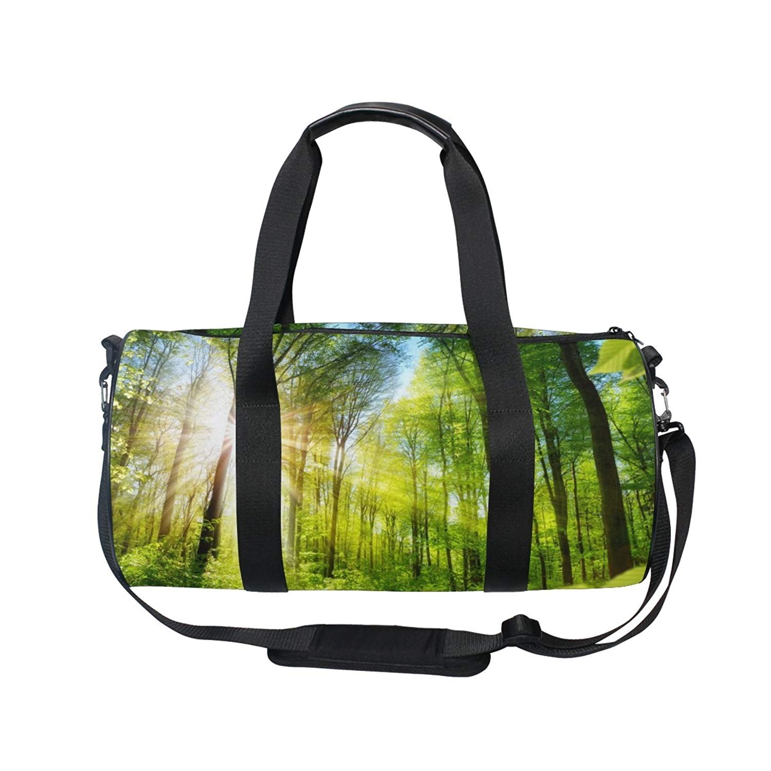 Nature Green Forest Sports Gym Shoulder Handy Duffel Bags