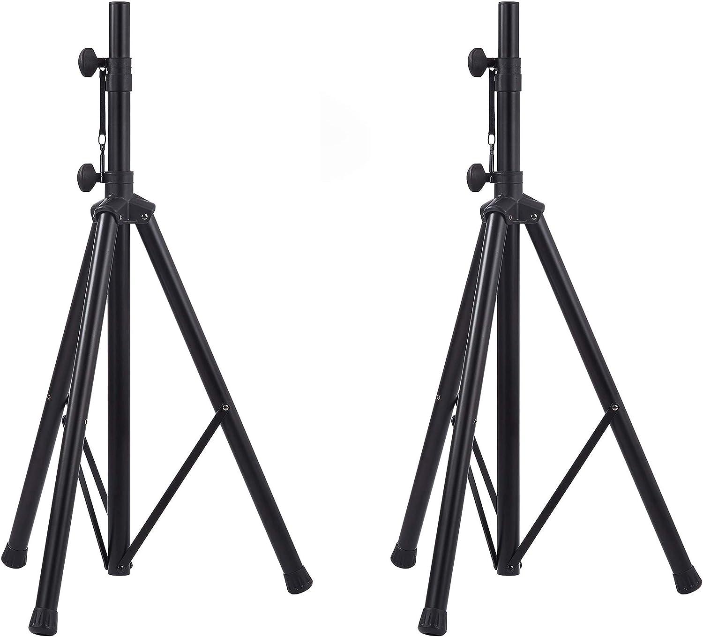 Amazon Basics Verstellbarer Lautsprecherständer 115 Cm Bis 180 Cm Stahl 2er Packung Musikinstrumente