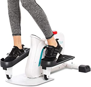 ANCHEER Elliptical Machines, Mini Compact Strider Elliptical,Under Desk Elliptical Trainer Built-in Display Monitor & Magnetic Smooth Quiet Driven for Home