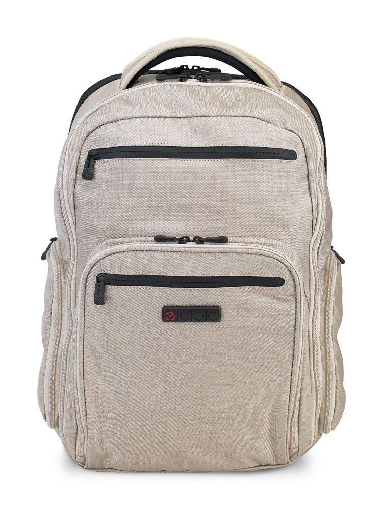 ECBC Hercules — Travel Backpack for a 16'' Laptop Computer: TSA Friendly Quick-Open Laptop Section, Linen (K7102-55)