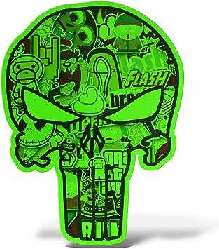 vinyle sticker autocollant tête de mort 2