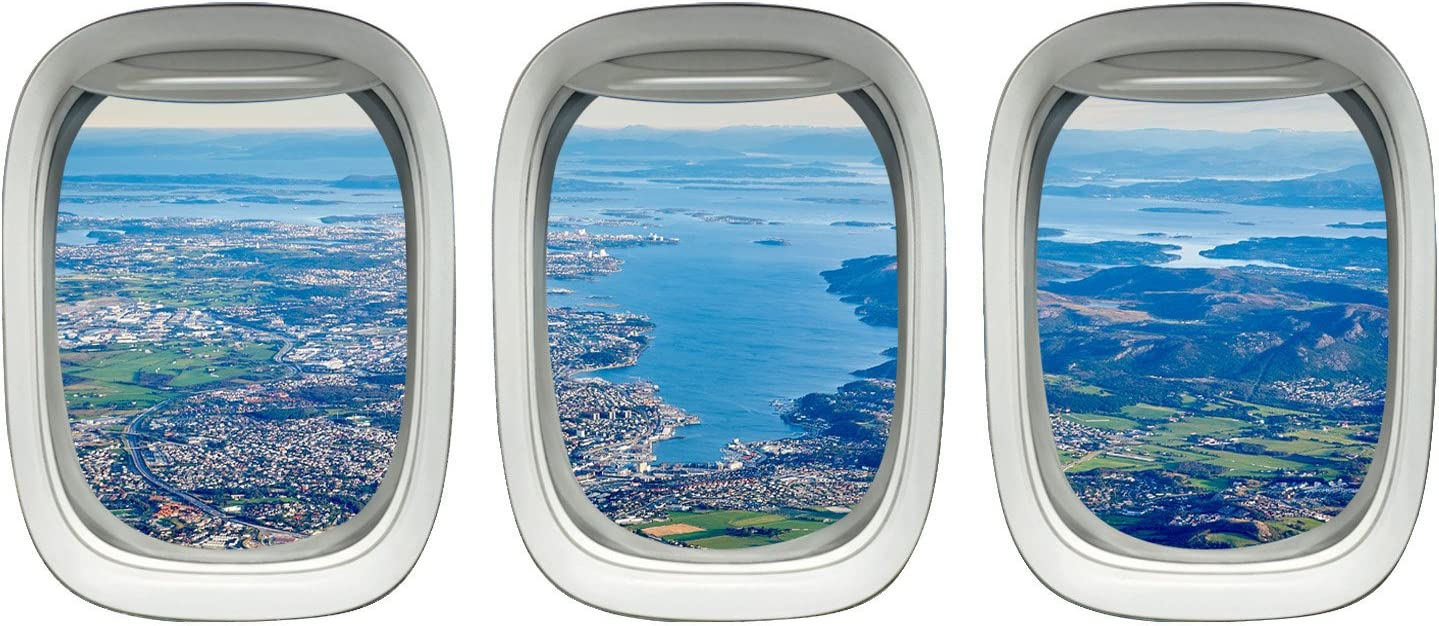 Amazon Com Vwaq Ppw6 Airplane Window View Decals Home Kitchen