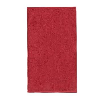 Sancarlos - Toalla lisa OCEAN, Densidad 550 gr/m2, Rojo, Tocador, 30x50 cm: Amazon.es: Hogar
