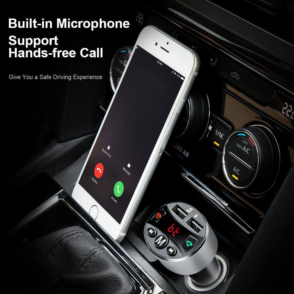 FM Transmitter Bluetooth KFZ Auto Freisprecheinrichtung Radio Adapter Car Kit