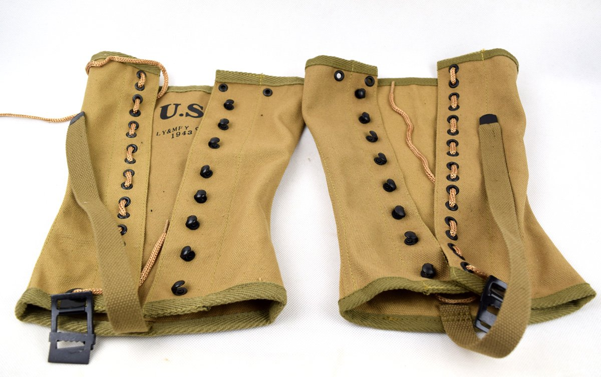 Replica WWII US Army Canvas Pants Gaiter Leggings Puttee - DeluxeAdultCostumes.com