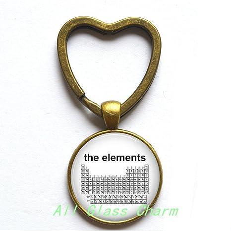 Amazon.com: Encantador corazón llavero, tabla periódica de ...