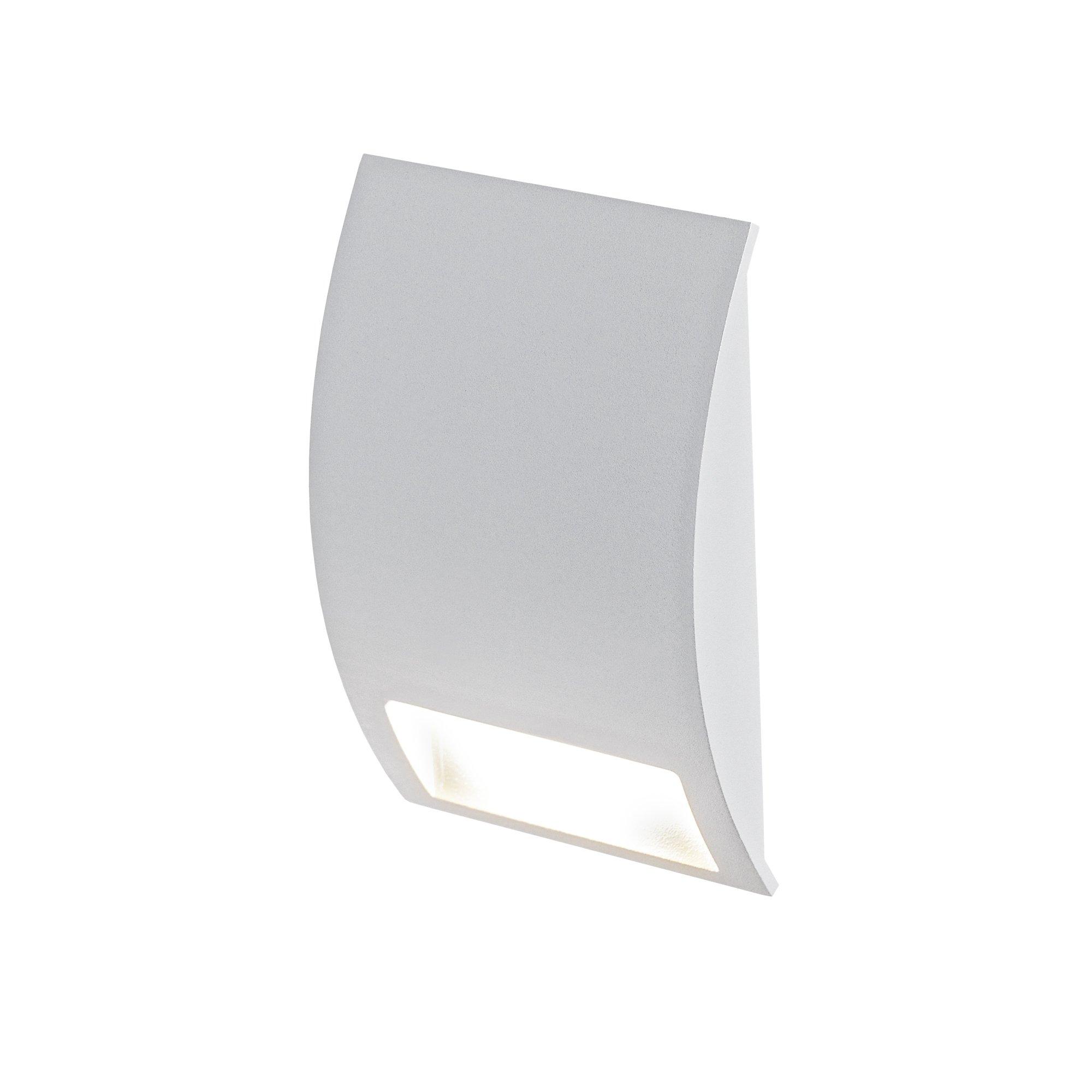DALS Lighting LEDSTEP003D-SG 3'' Half Moon Indoor/Outdoor LED Step Light 3'', Satin Grey