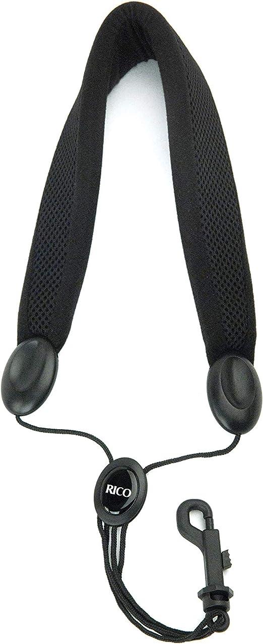 Black I1S7 Saxophone Neck Strap with Snap Hook Padded Adjustable