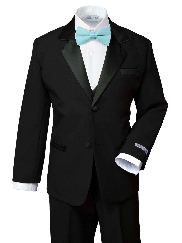 Spring Notion Boys' Classic Fit Tuxedo Set, No Tail ERF202-SNS-202.BK