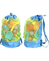 EocuSun Large Mesh Beach Bag Tote Durable Sand Away Drawstring Beach Backpack Swim and Pool Toys Storage Bags Packs, Stay Away From Sand and Water, Toy Not Included