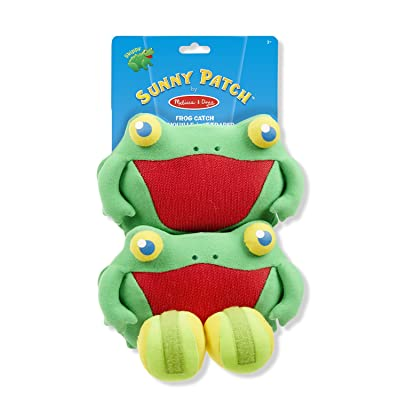 Melissa & Doug 16683 Jeu de lancer Sunny Patch Skippy Frog 2 Gants, Balles Souples