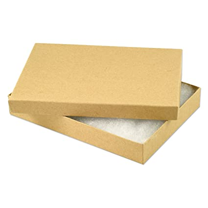 Amazoncom Kraft Paper Cotton Filled Jewelry Box 75 Pack of 10