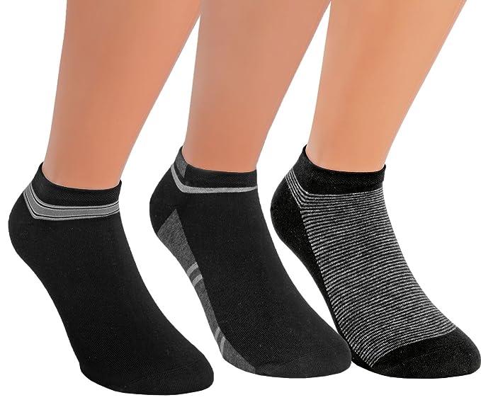 Vita Sox Zapatillas Calcetines Calcetines Algodón Zapatillas Hombre sin costuras negro 9 unidades Negro Sortierung 1: Amazon.es: Ropa y accesorios