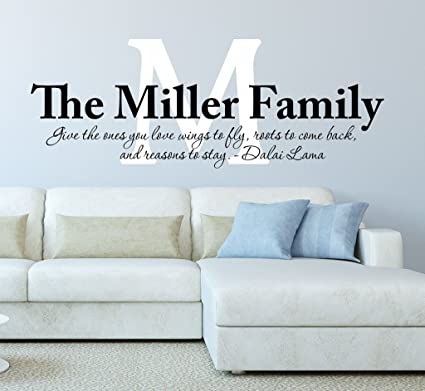 Family Wall Decal Quote, Give The Ones You Love Wings To Fly ...