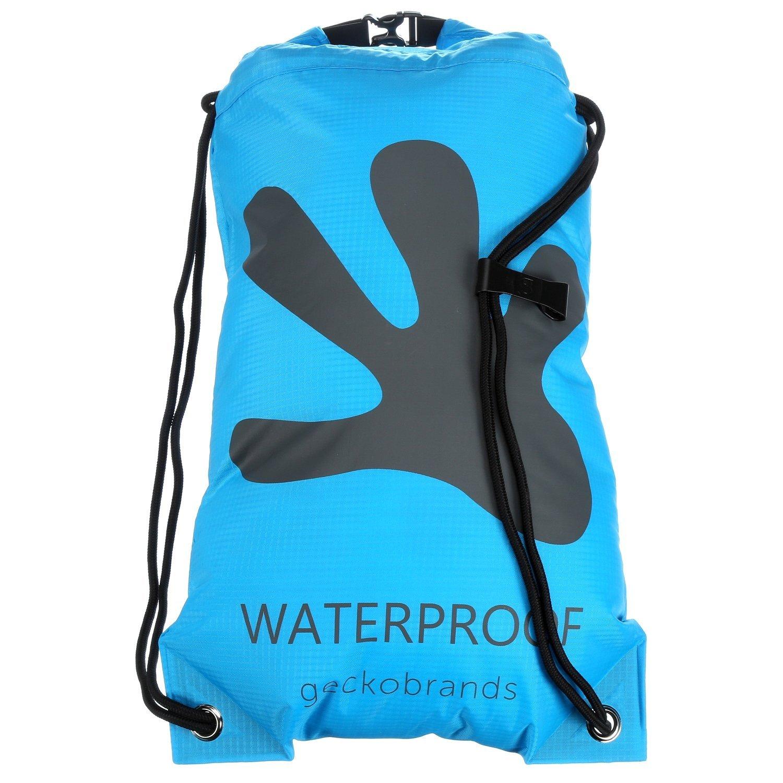 Amazon.com : geckobrands Waterproof Drawstring Backpack- Black ...